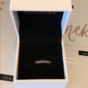 Brand new pandora linked hearts ring